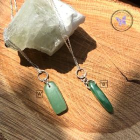 Green Aventurine Chip Pendant Necklace